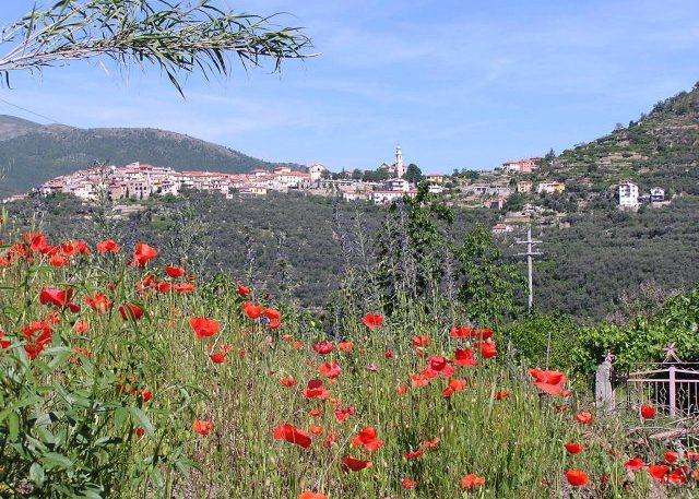 Blick von Chiusanico auf Torria